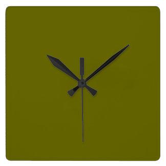 Verdun Olive Green Wall Clock