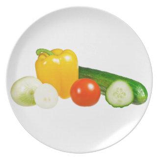Verdura aislada platos de comidas