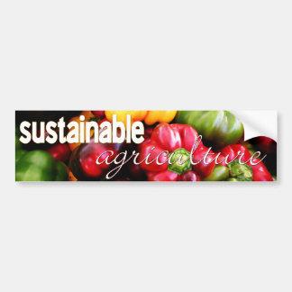 Verdura de la agricultura sostenible pegatina de parachoque