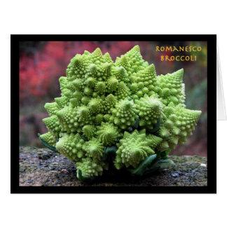 Verdura del bróculi de Romanesco Tarjeta De Felicitación Grande