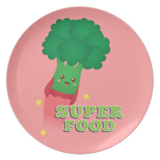 Verdura linda del bróculi, comida estupenda plato de cena
