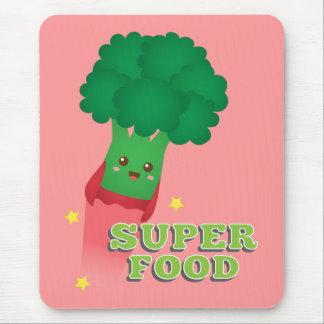 Verdura linda del bróculi, comida estupenda tapetes de ratones