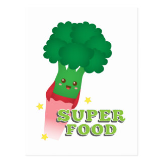 Verdura linda del bróculi, comida estupenda postal