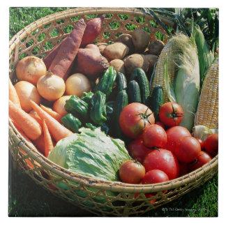 Verduras 5 teja  ceramica