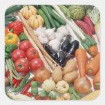 Verduras 6 pegatina cuadrada