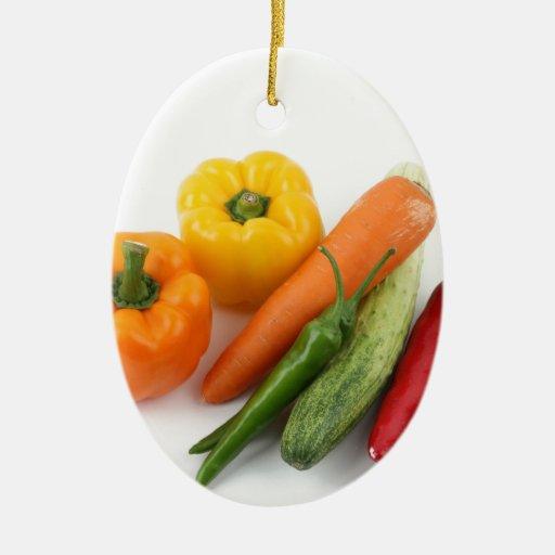 Verduras Adorno Ovalado De Cerámica