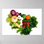 Verduras clasificadas poster