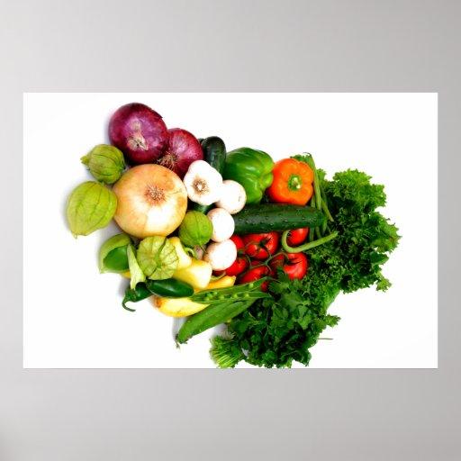 Verduras clasificadas póster