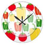 Verduras coloridas relojes