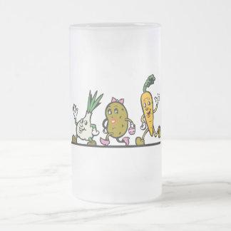 verduras corrientes divertidas tazas