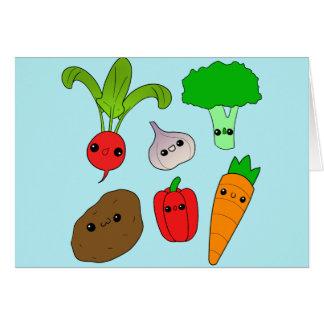 Verduras de Chibi Tarjeta De Felicitación
