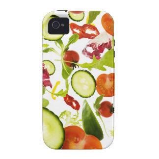 Verduras de ensalada mezclada frescas que caen a l iPhone 4/4S fundas