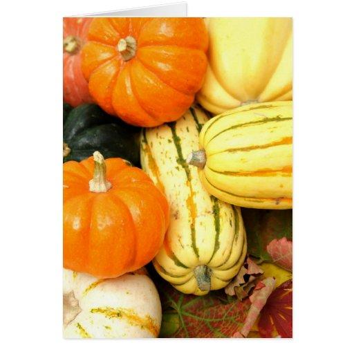 Verduras de la caída tarjeta de felicitación