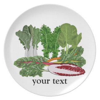 Verduras de los amantes del Veggie de los verdes Plato