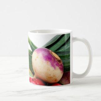Verduras de raíz tazas de café