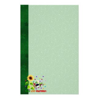 Verduras del amor de la paz papeleria de diseño