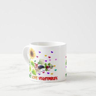 Verduras del amor de la paz taza de espresso