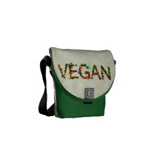 Verduras del vegano bolsas messenger
