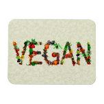 Verduras del vegano imán de vinilo