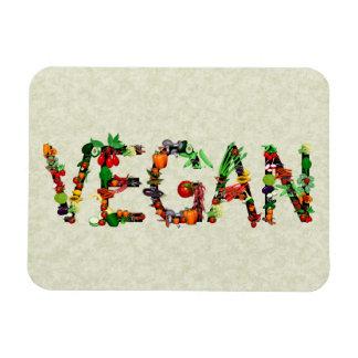 Verduras del vegano imán flexible