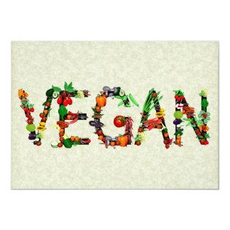 Verduras del vegano invitación 12,7 x 17,8 cm