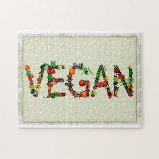 Verduras del vegano puzzle