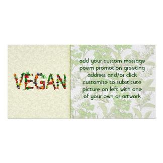 Verduras del vegano tarjetas fotográficas personalizadas