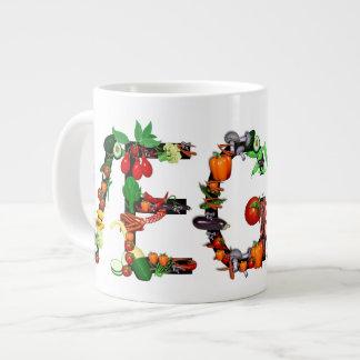 Verduras del vegano tazas extra grande