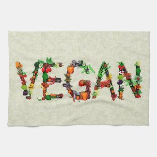Verduras del vegano toallas de cocina
