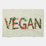Verduras del vegano toallas de mano
