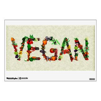 Verduras del vegano vinilo adhesivo