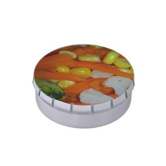 verduras del verano latas de dulces