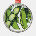 Verduras del vintage; Habas de Lima, comidas orgán Adorno De Navidad