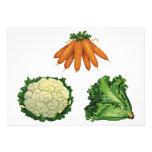 Verduras del vintage; Zanahorias, coliflor, lechug Comunicado Personal