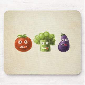 Verduras divertidas del dibujo animado tapetes de ratones