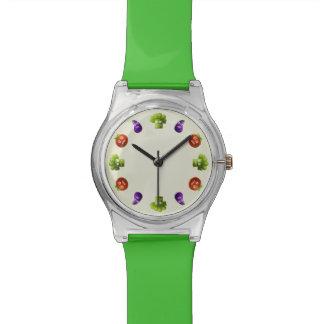 Verduras divertidas reloj de mano