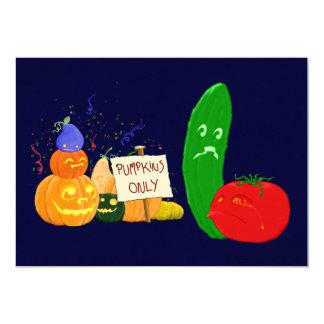 """Verduras divididas invitación 5"""" x 7"""""""