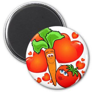 Verduras en amor, imán