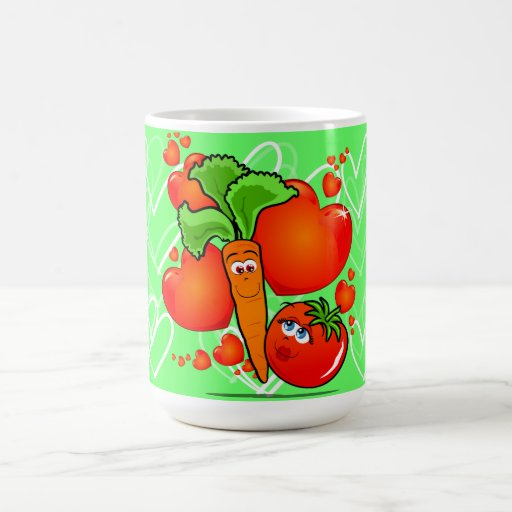 Verduras en amor, taza
