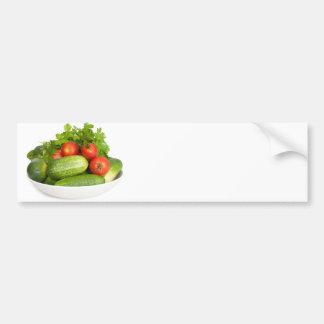 Verduras en blanco pegatina para auto