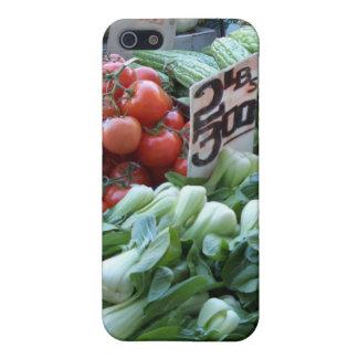 Verduras frescas CricketDiane del mercado callejer iPhone 5 Carcasas