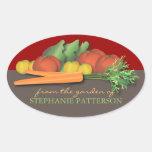 Verduras frescas de la etiqueta autoadhesiva del