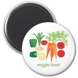 Verduras frescas mezcladas del amante del Veggie Imán Redondo 5 Cm