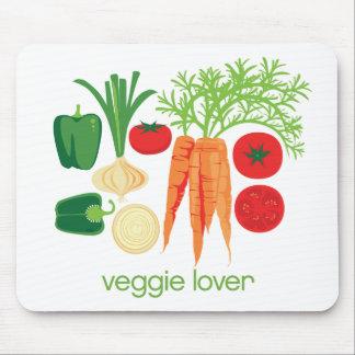 Verduras frescas mezcladas del amante del Veggie Tapete De Ratones