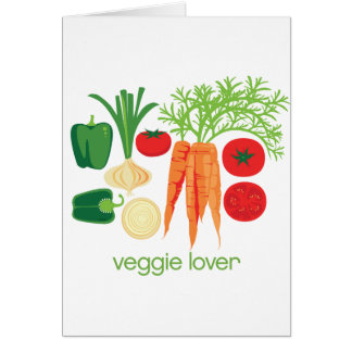 Verduras frescas mezcladas del amante del Veggie Tarjeta De Felicitación