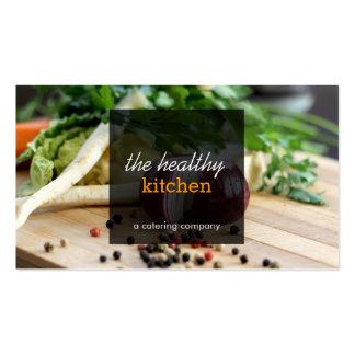Verduras frescas que abastecen o tarjeta de visita