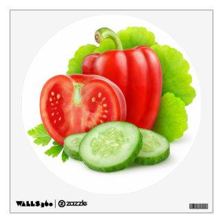 Verduras frescas vinilo
