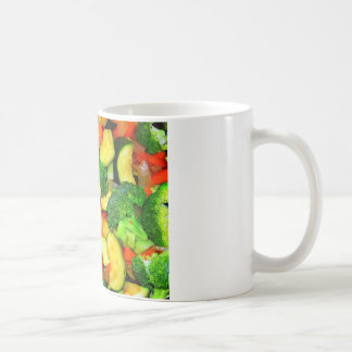 Verduras - fritada vegetal del Stir Taza Básica Blanca