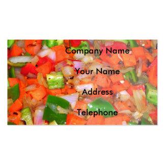 Verduras fritas Stir Tarjeta De Negocio