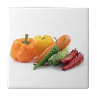 Verduras hermosas azulejo cuadrado pequeño